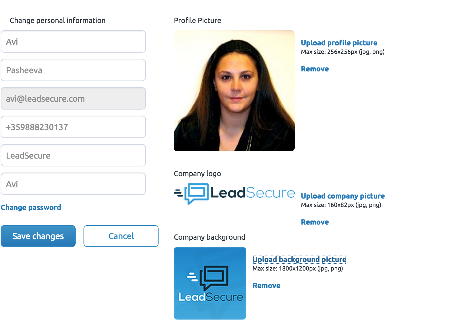 LeadSecure Profile Customization